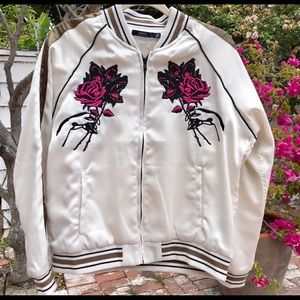 Obey Howl Tour Embroidered Bomber Jacket